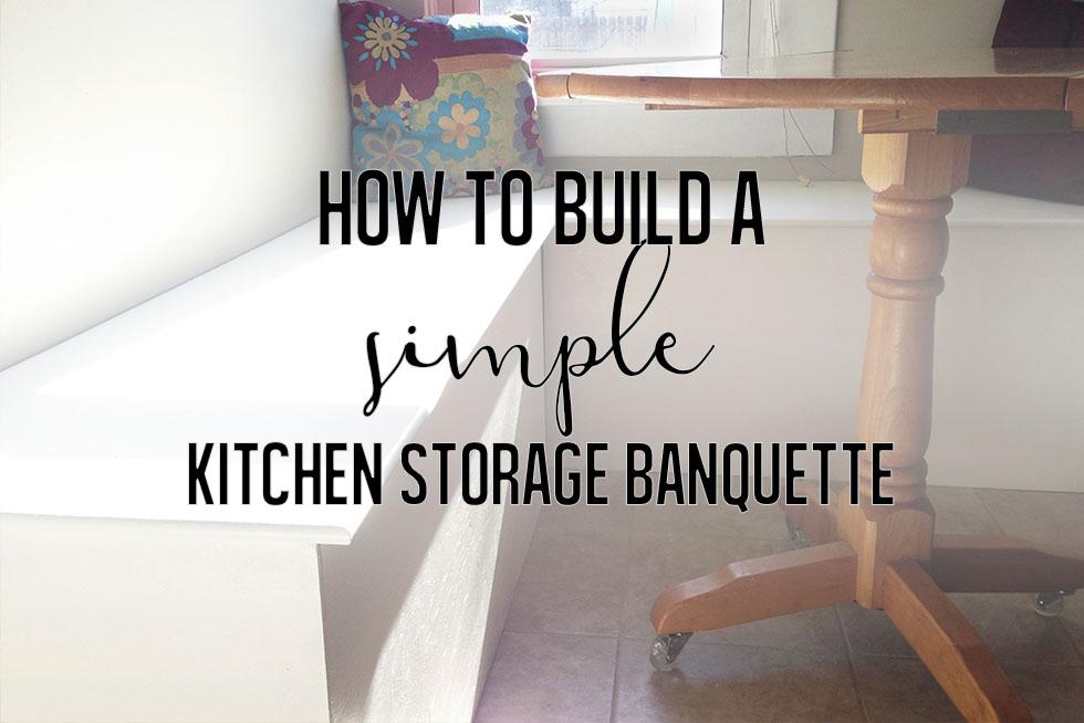 Fabulous How To Build A Simple Kitchen Storage Banquette Rehab Dorks Inzonedesignstudio Interior Chair Design Inzonedesignstudiocom